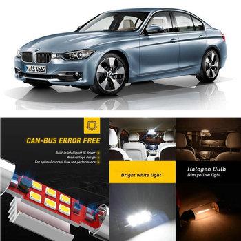 LED Interior Car Lights For Bmw F30 F80 rear trunk glove box make-up mirror lighting error free