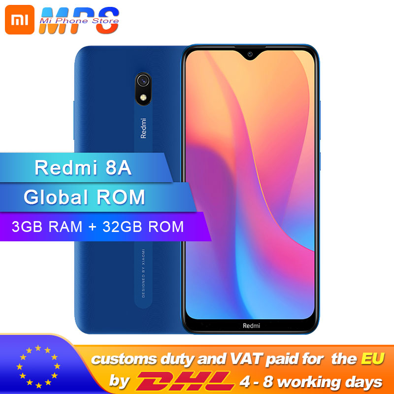 Global ROM Xiaomi Redmi 8A 3GB 32GB Smartphone 5000mAh Snapdargon 439 Octa Core 12MP AI Camera Type-C