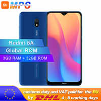Global ROM Xiaomi Redmi 8A 3GB 32GB teléfono inteligente 5000mAh Snapdargon 439 Octa core 12MP AI tipo de cámara-C