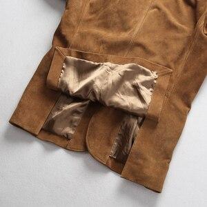 Image 4 - 2019 ใหม่ผู้ชาย Blazers Suede cowhide เสื้อแฟชั่น Cowskin Blazer แจ็คเก็ตจัดส่งฟรี