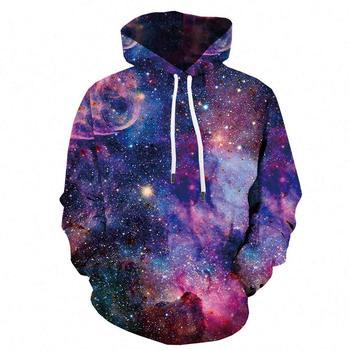 3D Galaxy Hoodie Men Space Sweatshirts Round Neck Print Drawstring Hooded (XX-Large, 3D Galaxy Hoodie) hooded 3d fireworks print flocking trippy hoodie
