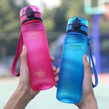 Butelki na wodę 500 1000ML Shaker szczelny Outdoor Sport bezpośrednie picie moja butelka Tritan plastikowe ekologiczne Drinkware BPA Free tanie i dobre opinie UZSPACE Plastic Dorosłych Butelki wody Zaopatrzony sqc500 01XEL Direct Drinking TOUR Nie posiada Brak Zapas rzeczy With Rope