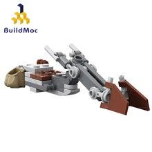 Buildmoc Star Toys Wars The Mandalor Speeder Bike Mini Model Building Blocks Diy Bricks Educational Xmas Gift For Kids