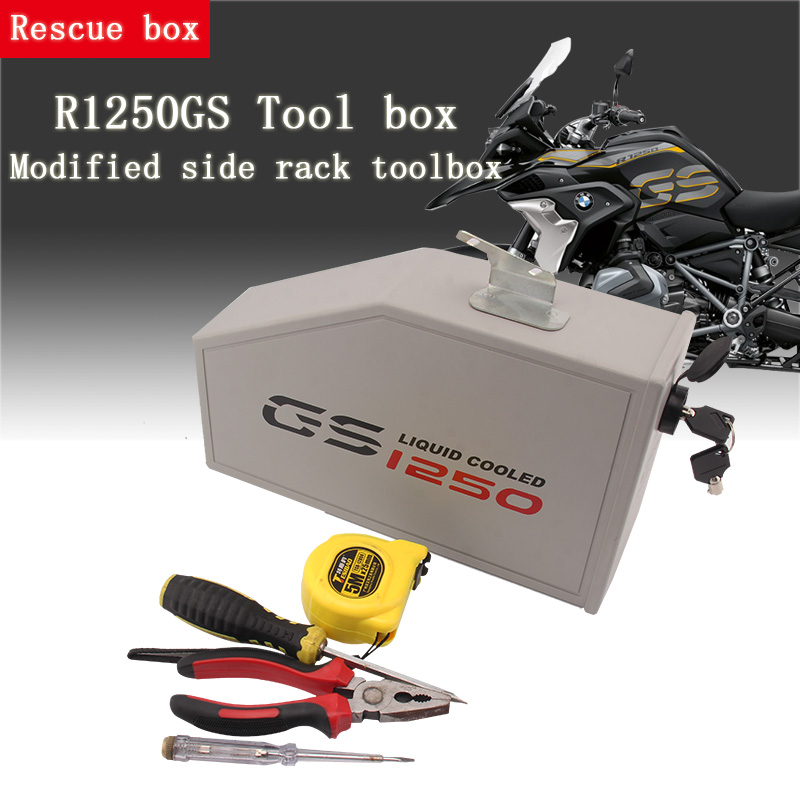 CNC Aluminum Box Toolbox 5 Liters For Left Side Bracket For BMW R1250GS LC Adventure R 1250 GS Tool Box 2019-2020 Decorative