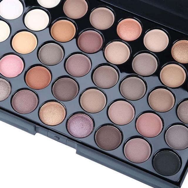 40 Color Eyeshadow Palette Matte Shiny Diamond Eyeshadow Glitter the First Luminous Eye Shadow Female Makeup Palette 1
