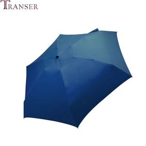 Image 5 - Transfer 9 renk düz hafif güneşli yağmurlu beş katlanır şemsiye katlanabilir güneş koruyucu Mini şemsiye 9905