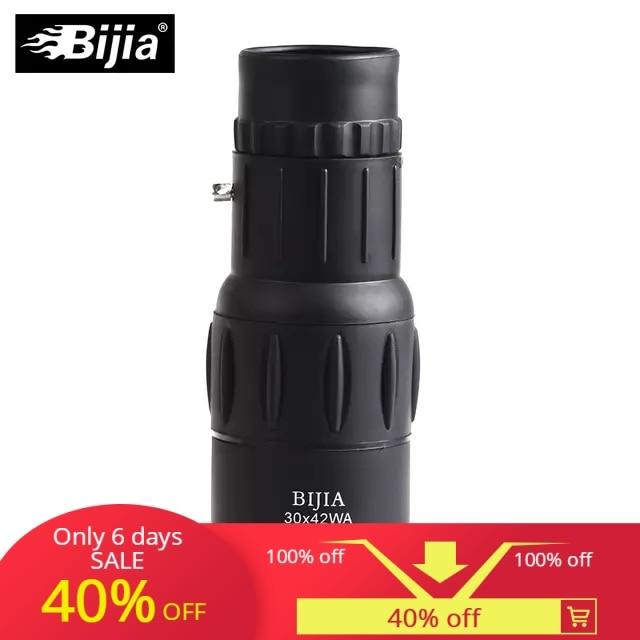 Bijia 30x42 Teleskop High Power Dual Fokus Monoculo Optic Monokulare Spyglass HD Spektive Professionelle Teleskop Werkzeuge