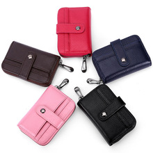 Top layer Cohide Men Card wallet Short Purse For bank cards Genuine leather Male Card case Zipper Hasp New Credit card holder