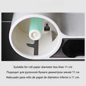 Image 5 - Baffect Bathroom Toilet Paper Holder Paper Tissue Box Plastic Toilet Dispenser Wall Mounted Roll Paper Storage Box Free Punching