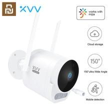 Mijia xiaovv câmera exterior pro 1080p hd wifi cam 150 ° grande ângulo ip65 visão noturna infravermelha 3 pces luzes de advertência led para mi casa