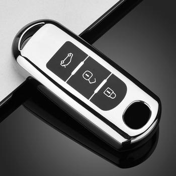 цена на New TPU Car Key Case for Mazda 2 Mazda 3 Mazda 5 Mazda 6 CX-3 CX-4 CX-5 CX-7 CX-9 Atenza Axela MX5 Keychain Bag Remote Cover