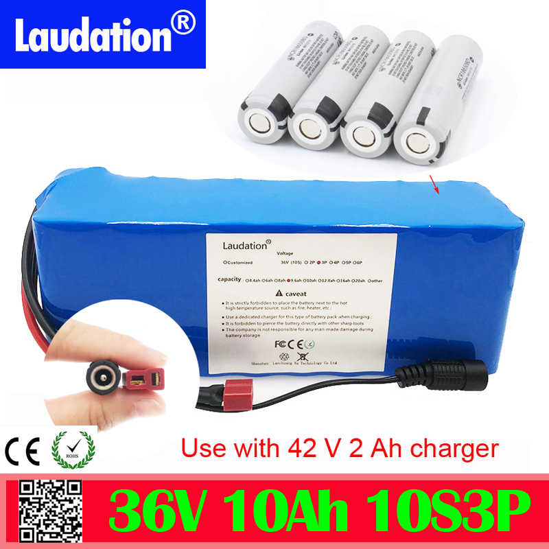 installation kit  36V 10S3P 10Ah 600W High power&capacity 18650 lithium battery pack ebike electric car bicycle motor scooter 36v laudation