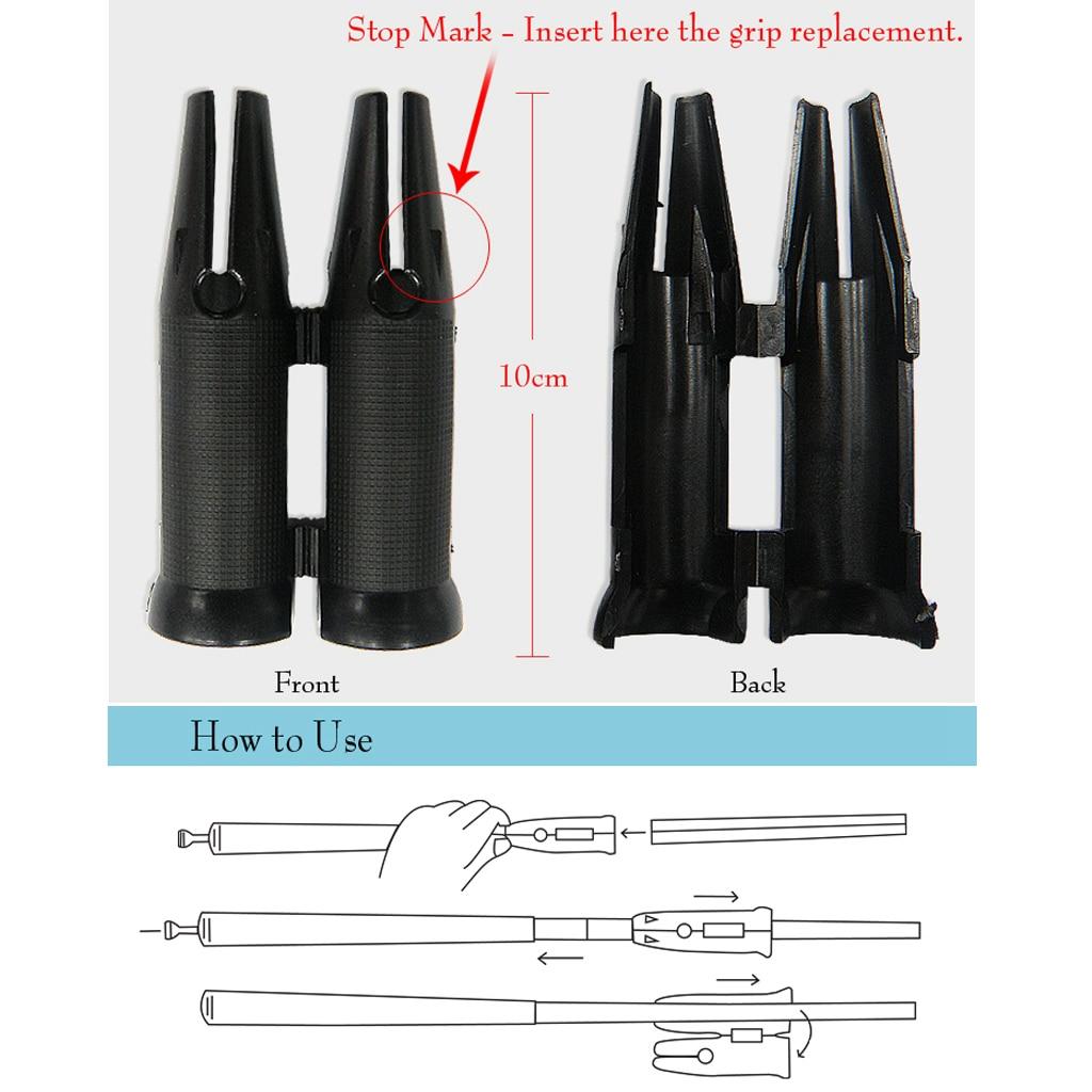 Herramienta de Instalación rápida de agarre final de Golf de plástico para adaptarse a colillas grandes de eje más grande-herramienta de cambio de Clip para envoltura de Golf