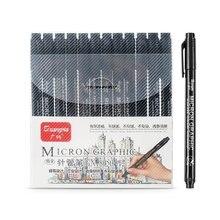 12 pçs/set caneta marcadora impermeável de esboço, caneta marcadora impermeável de esboço fino para micron, caneta de manga