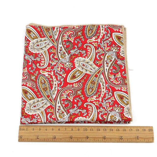 Большие цветочные хлопковые носовые платки с красочным принтом, круглые, повседневные круглые носовые полотенца шириной 34 см