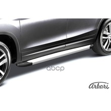 Комплект Алюминиевых Порогов Arbori Optima Silver 1800 Для Kia Sorento Prime- Arbori арт. AFZDAALKS1502