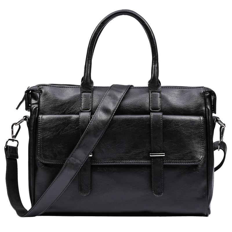 Men Bag Business Men Briefcase Bag Luxury Leather Laptop Bag Office Bag Man Messenger Bag Shoulder Bags Bolsa Maleta 2019 New