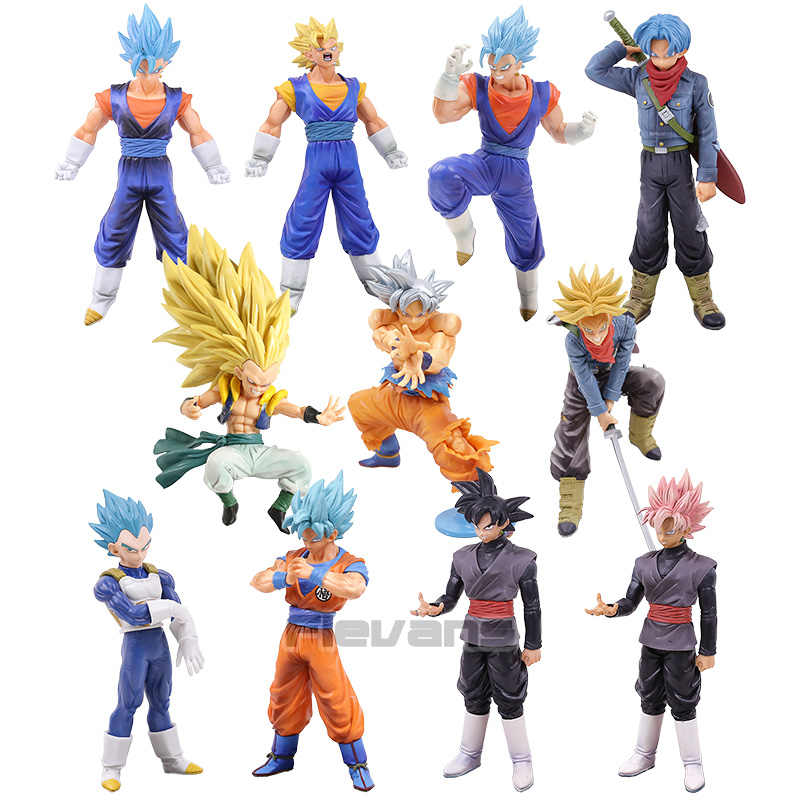 Dragon Ball Z SUPER Super Guerreiros Gotenks Goku Vegetto Troncos Rosa Preto Vegeta PVC Figura Collectible Toy Modelo