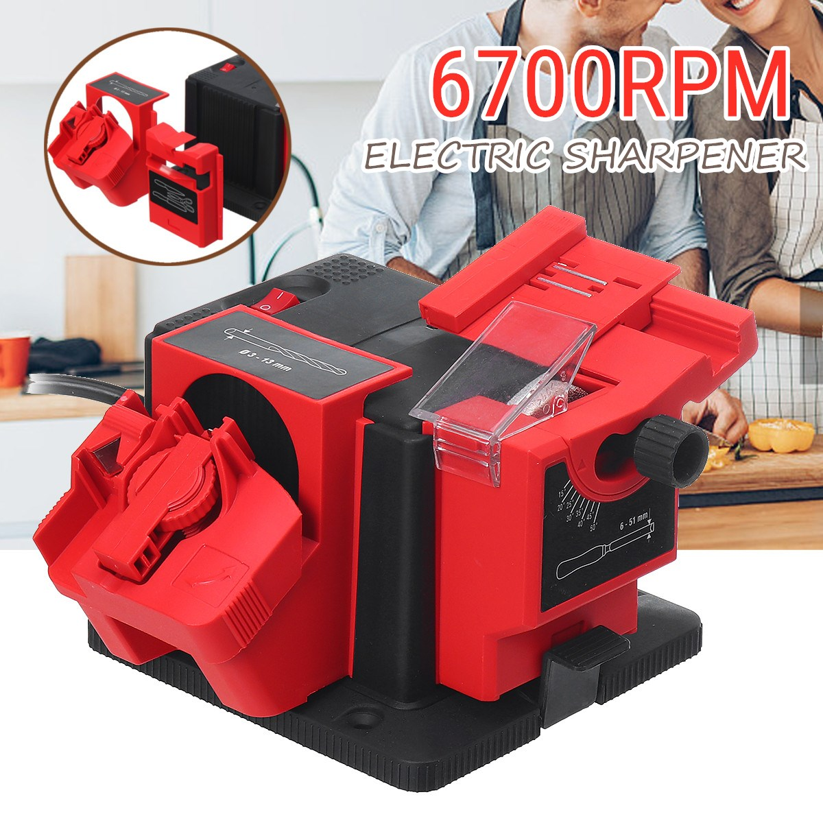 Multifunction Electric Knife Sharpener Drill Sharpening Machine Knife & Scissor Sharpener Household Grinding Tools