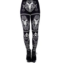 Summer Women Fitness Leggings Streetwear Gothic Pr