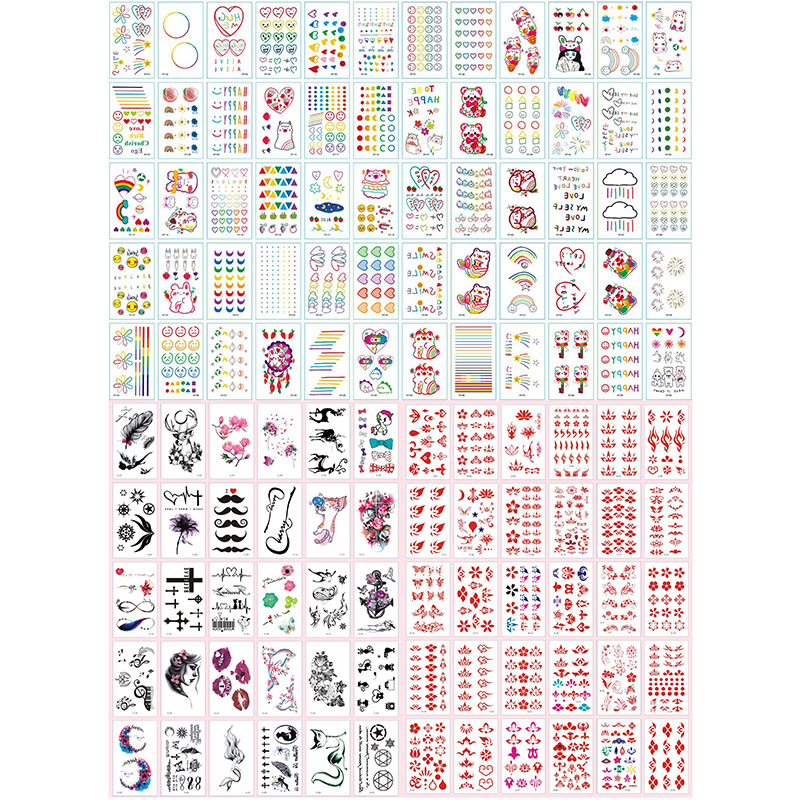 20pcs Fake Tattoo Sticker On The Body Temporary Tattoo Woman Waterproof Random Style Girl Art Temporal Tattoos