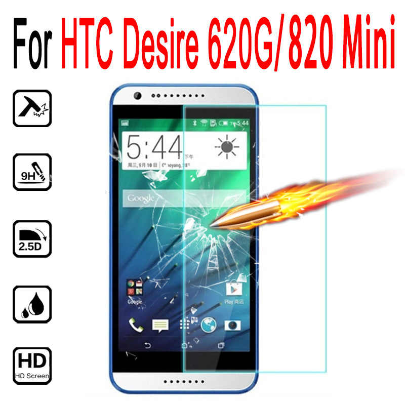 "Phone Glass For HTC Desire 620 G 620G / 820 Mini 5.0"" screen protector tempered glass cover For htc desire 620G dual sim case"