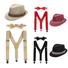 Get more info on the Cake Smash Outfit for Baby Fedora Hat Suspenders 3pcs Clothes Set Baby Boy and Girl Photography Props Cute Baby Birthday Outfit