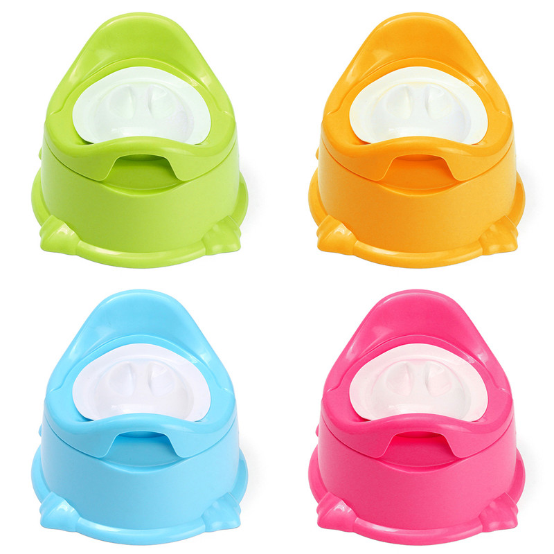 Baby Kid's Portable Travel Potty Chair Toilet Seat Trainer Bathroom Potty Training Seat Children's Potty Baby Toilet Bowl Pot