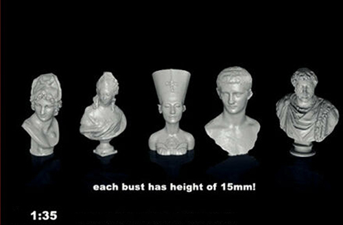 1/35  Ancient Small Busts Of Famous People (5pcs)  Resin Figure Model Kits Miniature Gk Unassembly Unpainted