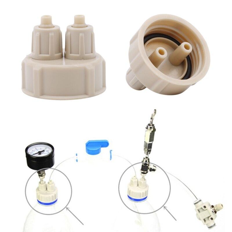 Hot 2PC Aquarium CO2 System Pro Tube Valve Guage Bottle Cap Kit Fish Tank Live Plant DIY Air Diffuser Generator Tool Part Kit