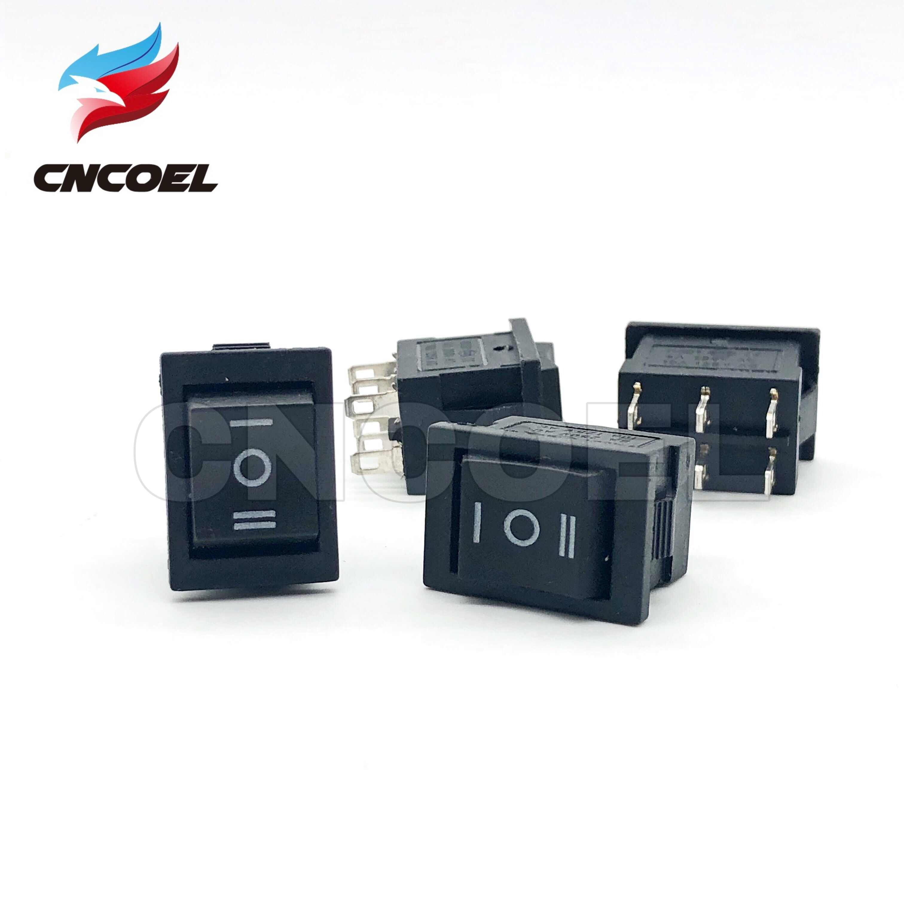 5 pcs/lot KCD1 noir trois positions bascule micro commutateurs 6A/250VAC 10A/125VAC (ON/off/on) 6Pin interrupteur à bascule