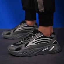 Homem correndo sapatos marca estrela mostrar estrela luminosa grossa sola tendência tênis zapatos masculino sapatos de desporto masculino caminhada ao ar livre 2019