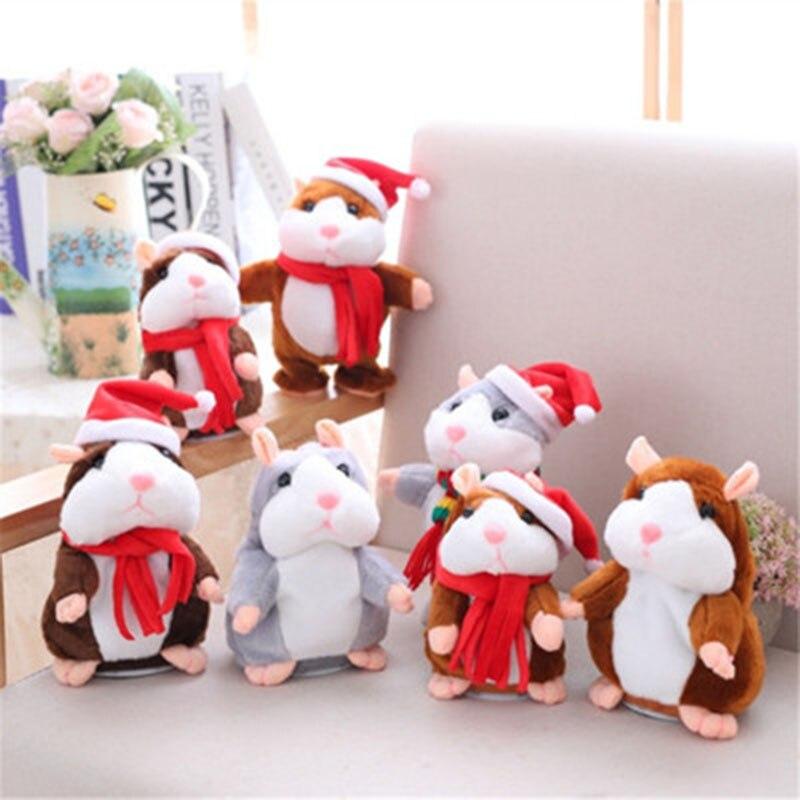 Купить детский говорящий хомяк мышь питомец рождественская игрушка