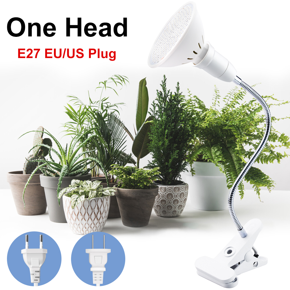LED Plant Growth Lamp E27 Fitolampy Full Spectrum LED Grow Lights With Clip For Plant Seedlings Flower Fitolamp Box Tent Indoor