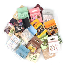 1 Box Stationery Stickers Seal Decorative Stickers Scrapbooking Diary Diy Bullet Journal Plant Flower Travel Retro Stickers