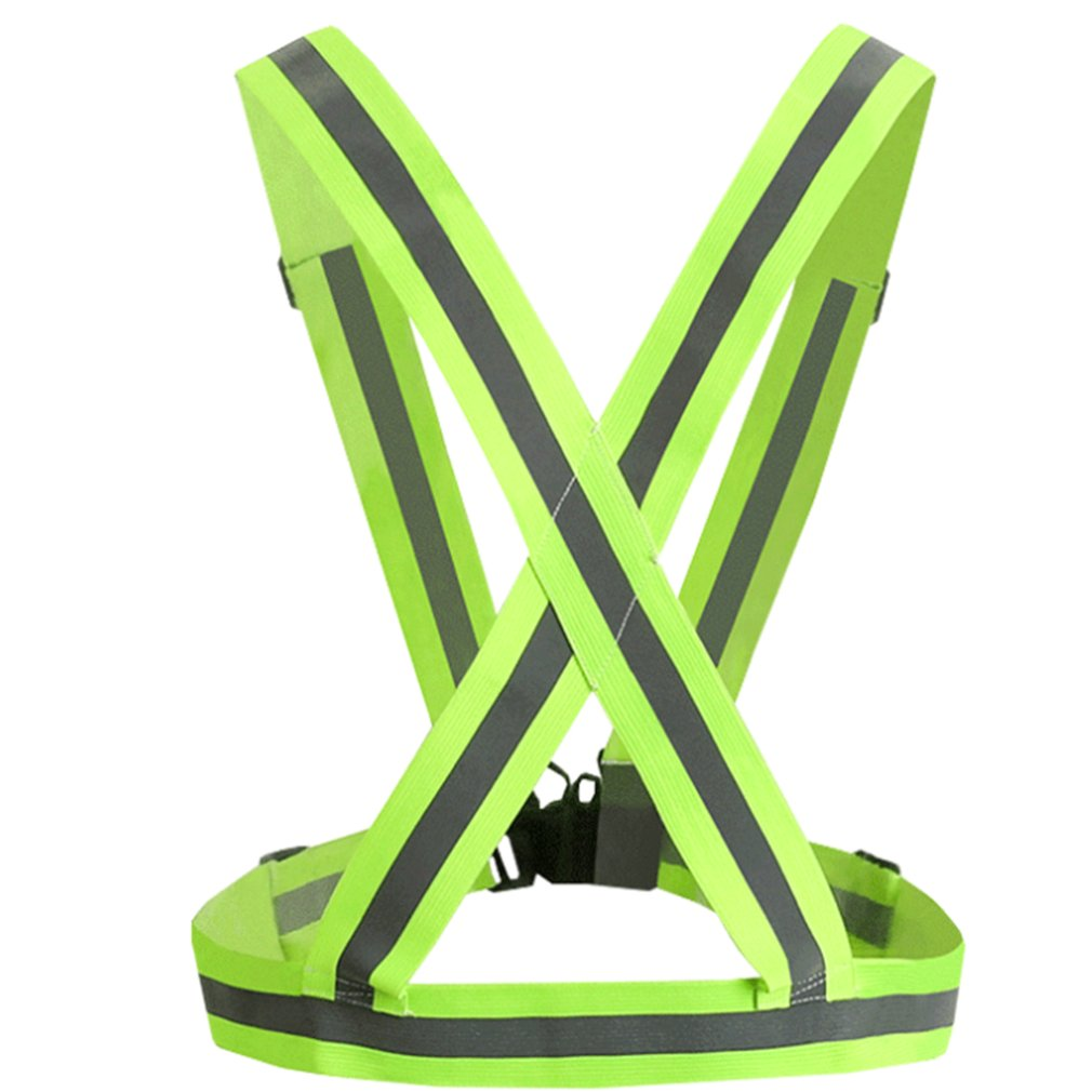Chalecos reflectantes para noche de seguridad ajustable con banda elástica para adultos y niños