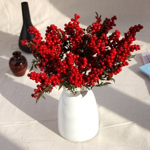 Image 1 - Berry Artificial Flower Fake red berries Christmas Flower New Years decor Tree Artificial berry Christmas Decoration For Home