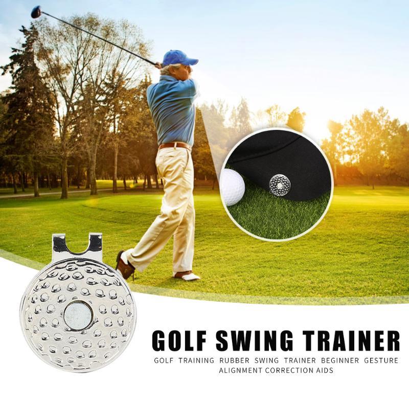 Hot Sale Golf Hat Clip Delicate Design Aids Cap Clip Fastener Magnet Training Practical Aiming Alignment Hat Golf Tool