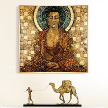 Винтаж Будда сидеть в медитации религия плакаты и принты буддизм
