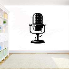 MIC Vinyl Wall Decal Microphone Music Musical Art Room Decor Stickers Mural home decor for Studio decals Y22