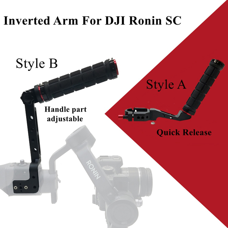 Ronin SC Lifting Pot Inverted Handle Bracket Extension Arm Stablizer For DJI Ronin SC Beholder Series Video Camera Accessories