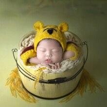 Accesorios para recién nacidos cubo Vintage cama de madera para accesorios de fotografía recién nacido bebé posando Cubo de madera Bowl Photo Props