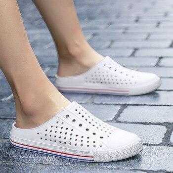 Sandals Men Hole Shoes Crocks Rubber Clogs For Women White Croc Unisex Couple Shoe Summer Beach Slippers Cholas Hombre