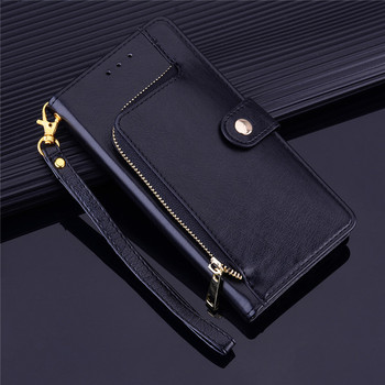 YXAYN Zipper Leather Flip Case Wallet Card Holder Coque for iPhone Xs Xr X 12 Mini 11 pro Max 8 7 Plus Case