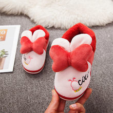 Toddler Slippers Kids Winter Boys Girls Fashion Shoes Cute Knot Warm Home Slipper Child Hotel Slippers Zapatillas Bebes Kapcie(China)