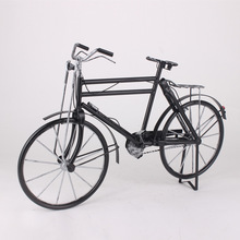 Bicicleta Retro hecha a mano grande 53X12X34cm, modelo Vintage de hierro, artesanía, bicicleta, modelo de bicicleta, ruedas de velocidad, decoración, regalo, juguetes para niños