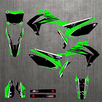 For Honda CRF250 CRF 2502014 2015 2016 2017 CRF450 CRF 450 2013 2014 2015 2016 Full Stickers DIY Customizable number decals