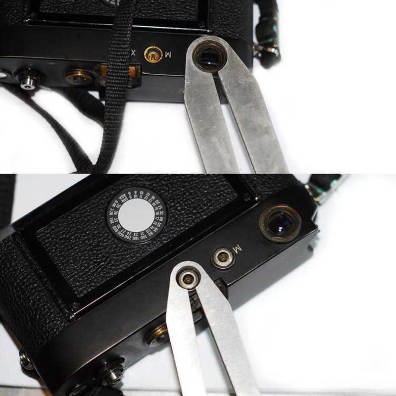 6 個除去修復レンチクランプツールキットフラッシュソケットリングスパナライカ M SM カメラ