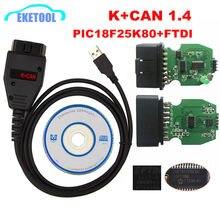 Para vag k + pode comandante 1.4 pcb verde pic18f25k80 ftdi ft232rq chip para audi/vw/skoda/seat para vag k + pode 1.4 k-linha comandante