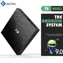 Android 9.0 TV BOX T9 Smart TV Box 4K Quad Core Media Player 4GB RAM 32GB/64GB ROM 2.4G/5G Dual WIFI USB 3.0 TVbox Set Top Box